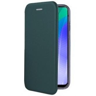 """Tamsiai žalios spalvos atverčiamas dėklas Huawei Y6P telefonui """"Book Elegance"""""""