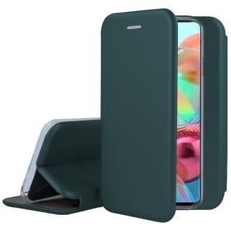 """Tamsiai žalios spalvos atverčiamas dėklas Samsung Galaxy A715 A71 telefonui """"Book Elegance"""""""
