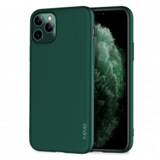 Tamsiai žalios spalvos dėklas X-Level Guardian Apple iPhone 12 / 12 Pro telefonui