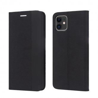 """Juodas atverčiamas dėklas Samsung Galaxy A52 / A52 5G telefonui """"Smart Senso"""""""