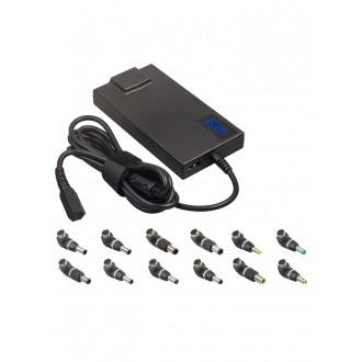Universalus įkroviklis nešiojamiems kompiuteriams 90W su 2A USB jungtimi