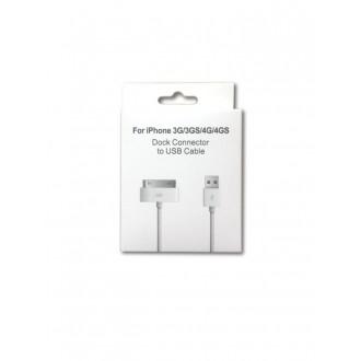 USB kabelis Apple 4G 30-Pin 1.0m HQ