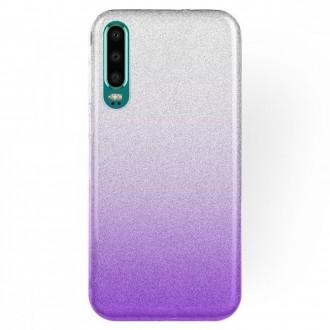 "Violetinis blizgantis silikoninis dėklas ""Bling"" telefonui Samsung J6 2018 (J600)"