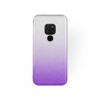 """Violetinis blizgantis silikoninis dėklas Huawei Mate 20 telefonui """"Bling"""""""
