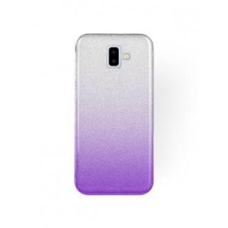 "Violetinis blizgantis silikoninis dėklas Samsung Galaxy J610 J6 Plus 2018 telefonui ""Bling"""
