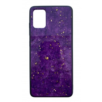 "Violetinis dėklas ""Marble"" Samsung Galaxy A515 A51 telefonui"