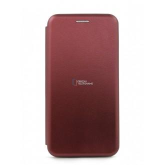 """Vyno raudonos spalvos atverčiamas dėklas Samsung Galaxy G970 S10e telefonui """"Book Elegance"""""""