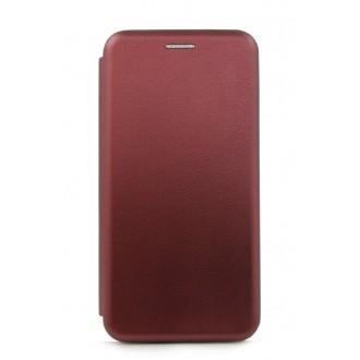 """Vyno raudonos spalvos atverčiamas dėklas Samsung Galaxy G973 S10 telefonui """"Book Elegance"""""""