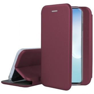 """Vyno raudonos spalvos atverčiamas dėklas Samsung Galaxy Note 10 Lite / A81 telefonui """"Book Elegance"""""""