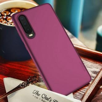 Vyno raudonos spalvos dėklas X-Level Guardian Huawei P30 telefonui