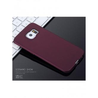 Vyno raudonos spalvos dėklas X-Level Guardian Samsung G920 S6 telefonui