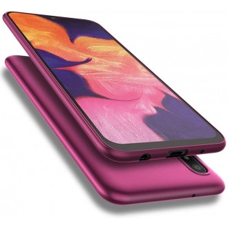 Vyno raudonos spalvos dėklas X-Level Guardian Samsung Galaxy A105 A10 telefonui