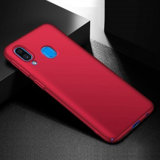 Vyno raudonos spalvos dėklas X-Level Guardian Samsung Galaxy A405 A40 telefonui