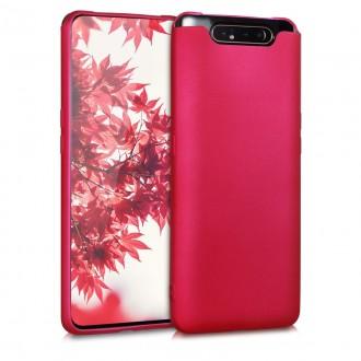 Vyno raudonos spalvos dėklas X-Level Guardian Samsung Galaxy A805 A80 telefonui