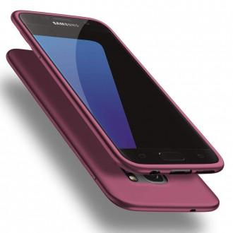 Vyno-raudonos spalvos dėklas X-Level Guardian Samsung Galaxy G930 S7 telefonui