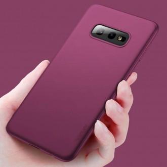 Vyno raudonos spalvos dėklas X-Level Guardian Samsung Galaxy G970 S10e telefonui