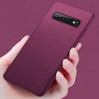 Vyno raudonos spalvos dėklas X-Level Guardian Samsung Galaxy G975 S10 Plus telefonui