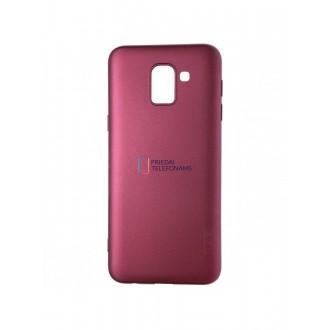 Vyno raudonos spalvos dėklas X-Level Guardian Samsung Galaxy J600 J6 2018 telefonui