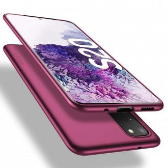 Vyno spalvos dėklas X-Level Guardian Samsung Galaxy G981 S20 telefonui
