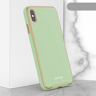 """Žalias dėklas """"Glass Case"""" Apple Iphone XR telefonui"""