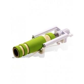 """Žalias teleskopinis fotografavimosi laikiklis telefonui """"Mini Monopod"""" (laidinis monopodas)"""