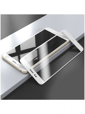 "5D Lenktas baltas apsauginis grūdintas stiklas Xiaomi Mi A1 / 5X telefonui ""Full Glue"""