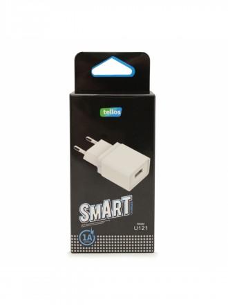 Įkroviklis buitinis Tellos su USB jungtimi U121 (1A)