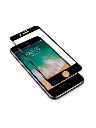 LCD apsauginis stikliukas 9D Full Glue Apple iPhone 7 / 8 juodas