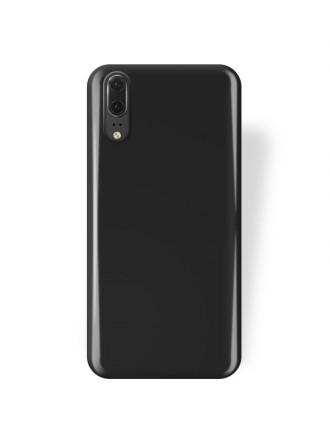 """Juodas silikoninis dėklas Huawei P20 telefonui """"Rubber TPU"""""""