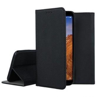 """Juodos spalvos atverčiamas dėklas Xiaomi Redmi 7A telefonui """"Smart Magnet"""""""