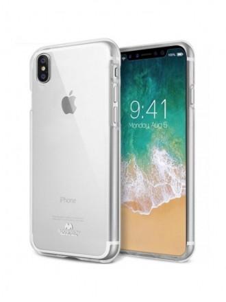 """Skaidrus silikoninis dėklas Apple iPhone XR telefonui """"Mercury Goospery Jelly Clear"""""""