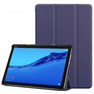 """Tamsiai mėlynas atverčiamas dėklas Huawei MediaPad M5 Lite 10.0 """"Smart Leather"""""""