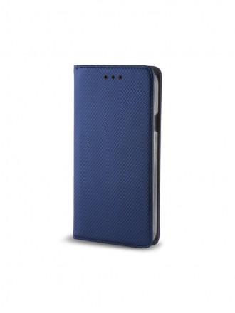 """Tamsiai mėlynas atverčiamas dėklas Huawei Y3 2017 telefonui """"Smart Magnet"""""""
