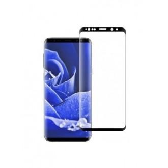 """5D Lenktas juodas apsauginis grūdintas stiklas Samsung Galaxy S9 Plus telefonui """"Full Glue"""""""