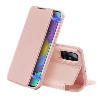 """Rožinis-auksinis atverčiamas dėklas Samsung Galaxy S20 FE telefonui """"Dux Ducis Skin X"""""""
