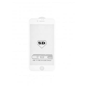 """5D baltas apsauginis grūdintas stiklas Apple iPhone 6 / 6S telefonui """"Full Glue"""""""