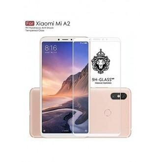 "5D baltas apsauginis grūdintas stiklas Xiaomi Mi A2 / 6X telefonui ""Full Glue"""