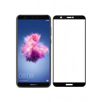 """5D juodas apsauginis grūdintas stiklas Huawei P Smart telefonui """"Full Glue"""""""