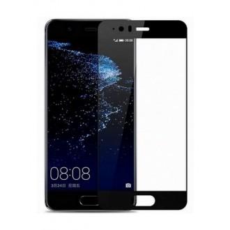 """5D Juodas apsauginis grūdintas stiklas Huawei P10 telefonui """"Full Glue"""""""