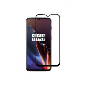 """5D juodas apsauginis grūdintas stiklas OnePlus 6T telefonui """"Full Glue"""""""