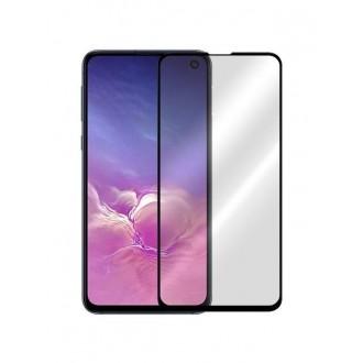 """5D juodas apsauginis grūdintas stiklas Samsung Galaxy G970 S10e telefonui """"Full Glue"""""""