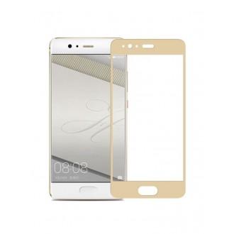 """5D Lenktas auksinis apsauginis grūdintas stiklas Huawei P10 Lite telefonui """"Full Glue"""""""