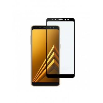 """5D Lenktas juodas apsauginis grūdintas stiklas Samsung Galaxy A8 2018'' telefonui """"Full Glue"""""""