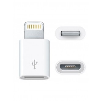 "Adapteris iš ""microUSB"" į Apple ""Lightning"" baltas"