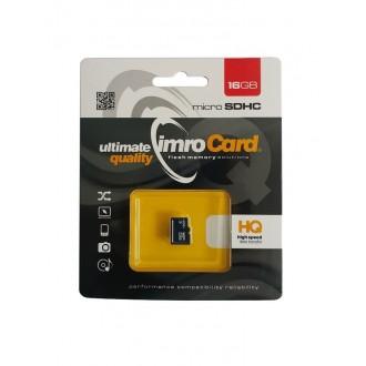 Atminties korta IMRO MicroSD 16Gb be adapterio