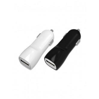 Baltas automobilinis įkroviklis Tellos su USB jungtimi (dual) (1A+2A)