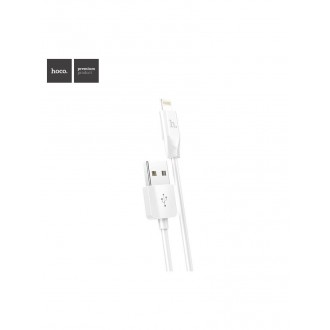 Baltas USB kabelis HOCO X1 lightning 2m