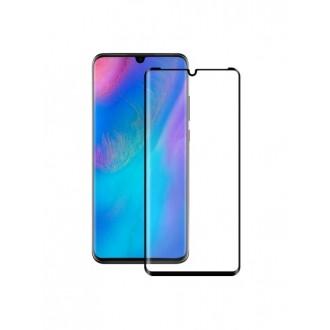 Juodas 3D apsauginis grūdintas stiklas Huawei P30 telefonui