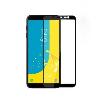 Juodas 3D apsauginis grūdintas stiklas Samsung Galaxy J600 J6 2018 telefonui