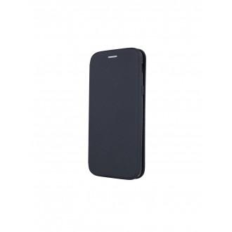"""Juodas atverčiamas dėklas Samsung Galaxy J610 J6 Plus 2018 telefonui """"Smart Viva"""""""